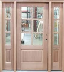 unfinished front doorNorms Bargain Barn  Fir Wood Door with Sidelights Poppies