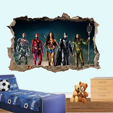 super heroes justice league wall
