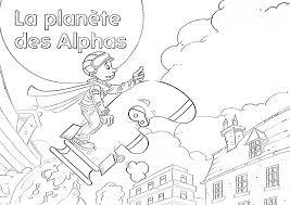 Nouveaux Coloriages Des Alphas Dans Mon Cartable Coloriage Planete Des Alphas L
