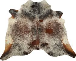 natural cowhide area rug 30 sq ft brown white salt and pepper pure cowhide rug 1 of 11free see more