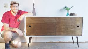 modern diy furniture. mid century modern console table diy builds ep 11 youtube diy furniture s