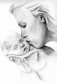 Mother Holding Baby Sketch At Paintingvalley Com Explore