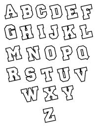Block Alphabet Block Letter Font With Outline Alphabet Block