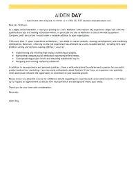 Marketing Manager Job Cover Letter Sample Trade Internship ...