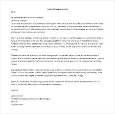 Employment Recommendation Letter Templates Reference Format Employee ...