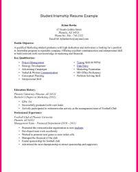 Nice Mft Internship Resume Examples Ideas Example Resume And