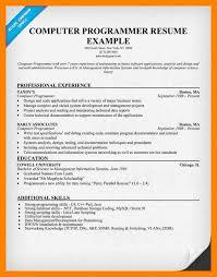 computer programmer resume samples computer programmer resume computer programmer resume example