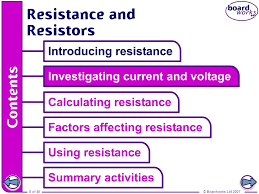 boardworks gcse additional science physics resistance and resistors