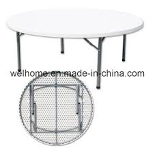 6ft round foldable table for restaurant