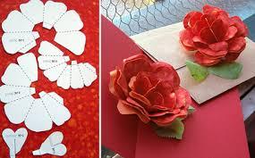 Folding Paper Flower Free Folding Paper Rose Pattern Paper Crave