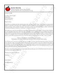 Cover Letters For Education Letters Of Recommendation For High