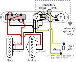 wiring a dual humbucker tele telecaster guitar forum am i safe to assume all other wire used would be from the 12 non shielded 22awg white colored wire as they recommend it for hot