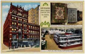modern style furniture store des moines with postcard of davidsons furniture store in des moines iowa ebay 18