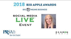 Prsa Ny Big Apple Awards Sharon Fenster Youtube