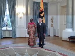 president joachim gauck pictured with ambador akua sena dansua photo musah ibrahim musah