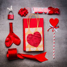 Valentines Day Gifts Beauteous Valentines Day Or Dating Festive Flat Lay In Red Color Love Stock