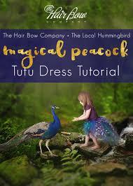A Magical <b>Peacock Tutu Dress</b> Tutorial - The Hair Bow Company ...