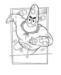 Kids N Fun Kleurplaat Spongebob Op Het Droge Patrick