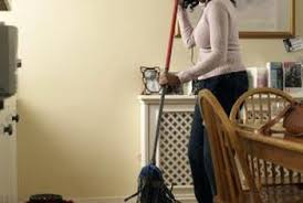 water buildup can damage wood flooring so don t let water with or