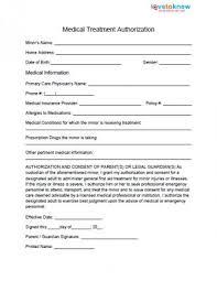 Medical Release Form For Child Medical Release Form for Minor 2