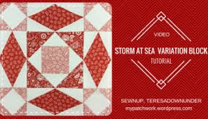Video tutorial: Storm at sea quilt block – version 1 | Sewn Up & Video tutorial: Double Storm at sea quilt block - variation 2 Adamdwight.com