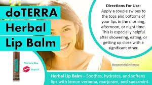 i have smooth lips with doterra herbal lip balm