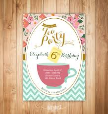 Kitchen Tea Party Invitation Princess Tea Party Etsy