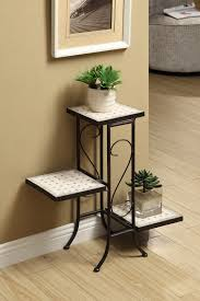 Natural 605808 3 Tier Travertine Plant Stand in 3 Tier Plant Stand