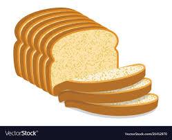 White Bread Slices Royalty Free Vector Image Vectorstock