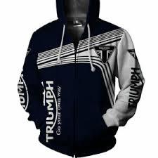Details About Triumph Motorcycle Men Shirt Zip Up Hoodie S M L Xl 2xl 3xl 4xl 5xl Us Size