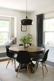 image of top modern round dining table