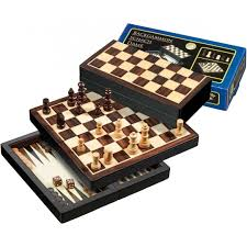 philos magnetic travel 3 in 1 wood chess set 22 mm field