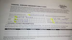 Mabuhay Miles Redemption Chart Domestic How To Use Mabuhay Miles To Book For Philippine Airline Flights