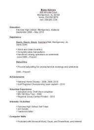 Sample Resume High School Student Ultramodern Print No Experience