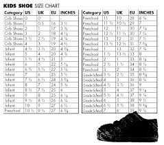 Kids Shoe Converter Online Charts Collection
