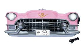 vintage car wall shelves pink cadillac front bluetooth player