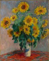 claude monet bouquet of sunflowers the met share by email
