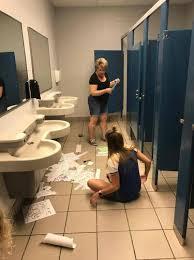 school bathroom. They School Bathroom