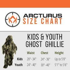 Ghillie Suit Size Chart Amazon Com Arcturus Kids Ghillie Costumes