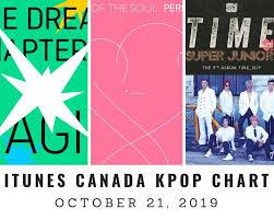 Itunes Canada Itunes Kpop Chart October 21st 2019 2019 10