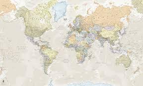 classic world map mural wallpaper