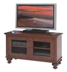 small wooden tv stands featuring shapely legs and double glass door 2 tier spacious compartments