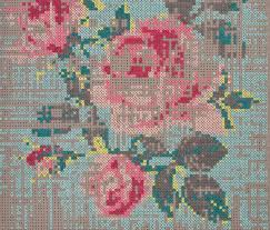 canevas rug flowers colour 1 3 by gan rugs