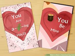 Valentinsday Card 4 Ways To Make A Valentines Day Card Wikihow