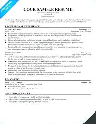 Cook Resume Objective line cook resume samples foodcityme 64
