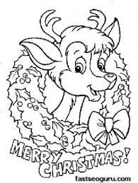 Small Picture Printable coloring pages of Merry christmas Reindeer baby face