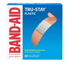 Band-Aid Brand Tru-Stay <b>Plastic Strips Adhesive Bandages</b> - All ...