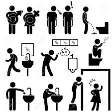 面白い公衆トイレ概念アイコン記号記号絵文字