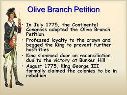 Image result for Olive Branch Petition