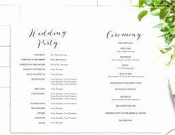 Wedding Ceremony Program Template Free Download Free Wedding Fan Template Beautiful Wedding Ceremony Program